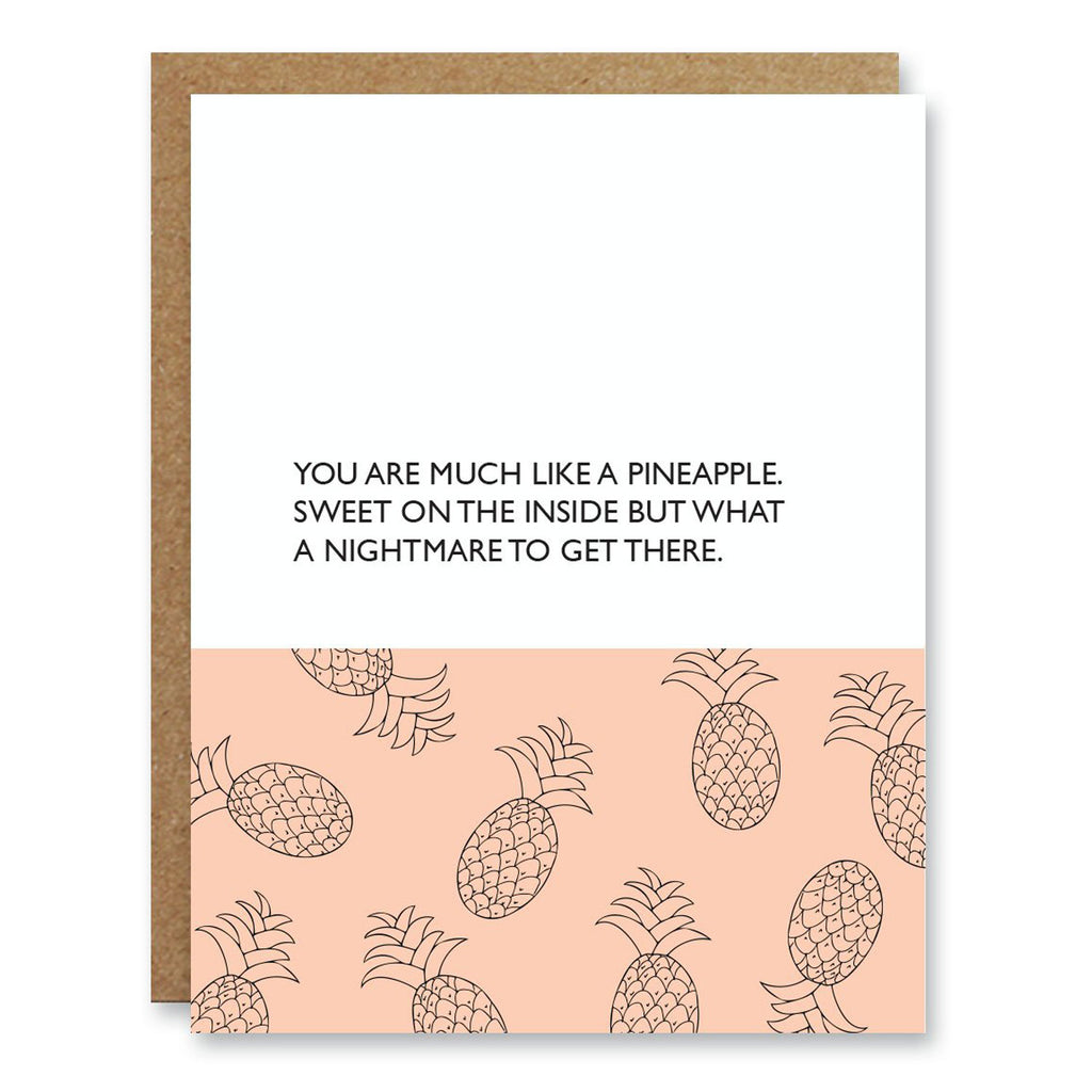 Boo to You Friendship Card Pineapple at Twang and Pearl