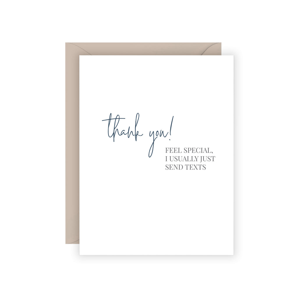 Carina Paper Thank You Card Texts at Twang and Pearl