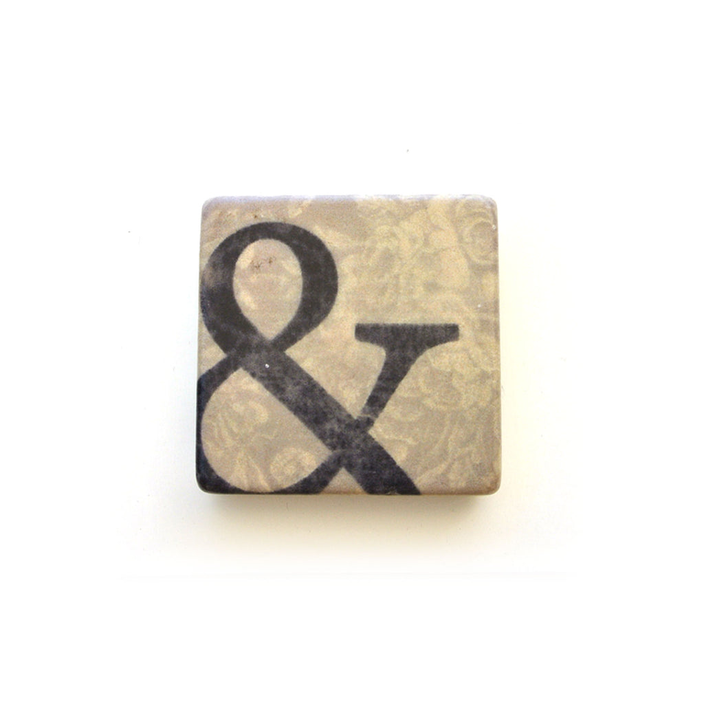 cedar mountain studios marble magnet ampersand at twang and pearl