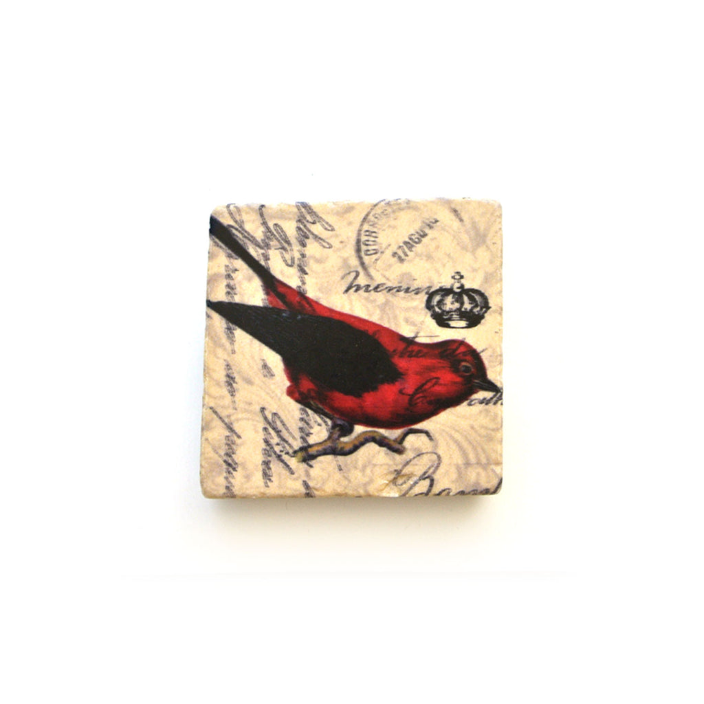cedar mountain studios marble magnet red bird at twang and pearl