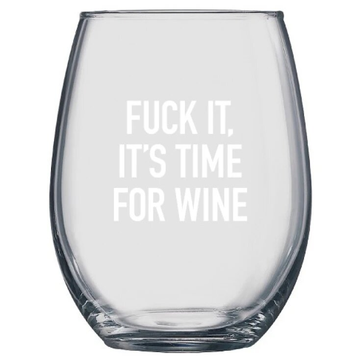 Class Cards Wine Glass | Time for Wine - Made in Canada