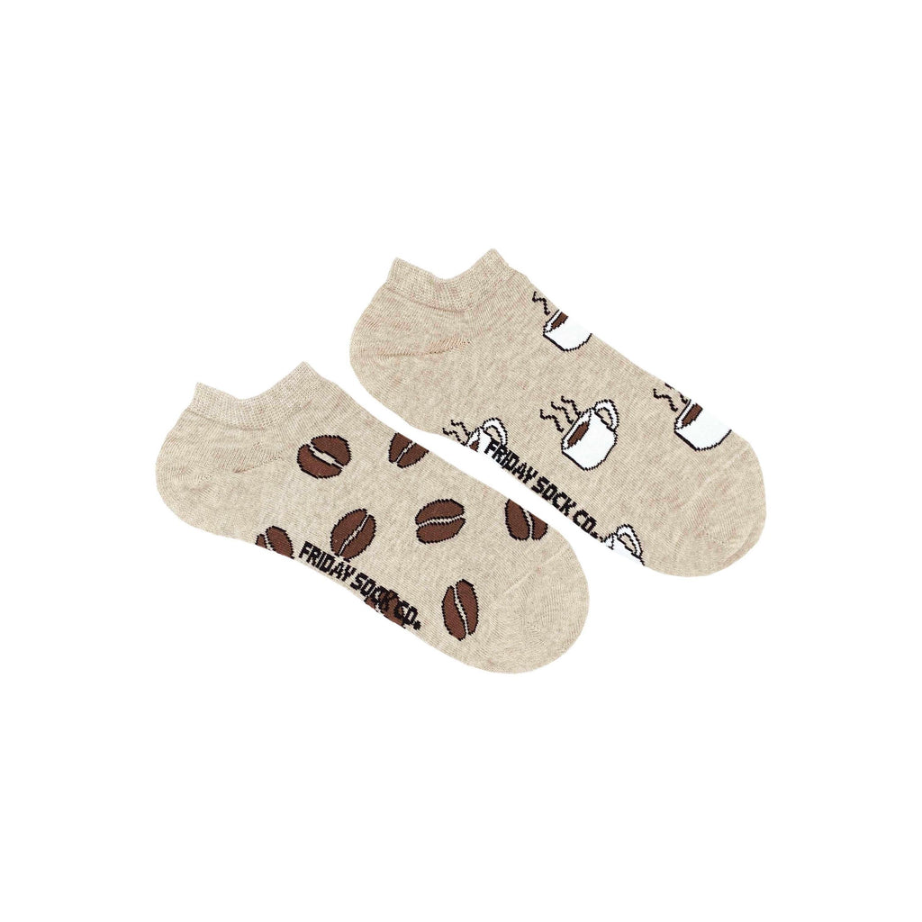 Friday Sock Co Womens Mismatched Ankle Socks Coffee Bean and Coffee at Twang and Pearl