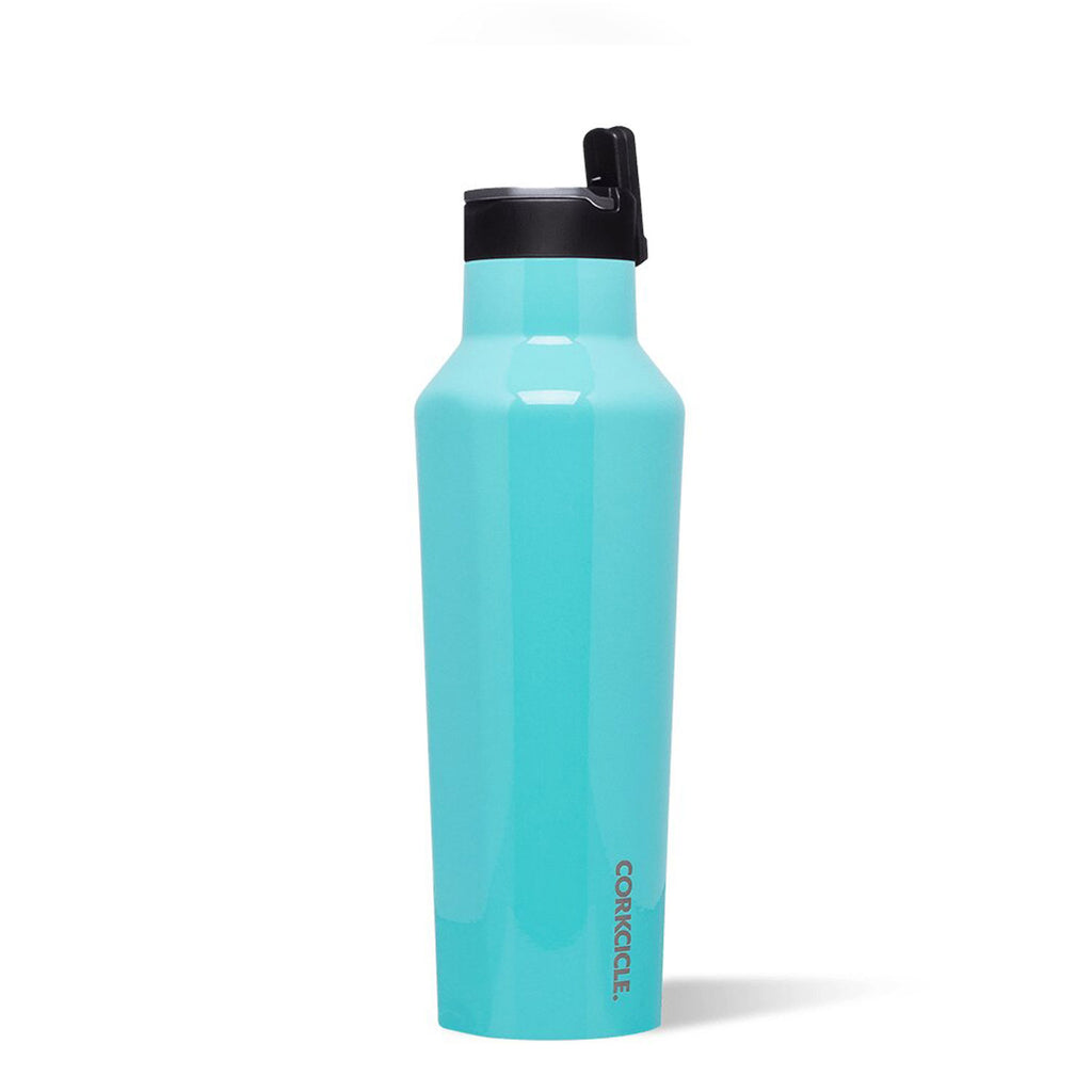 Corkcicle Sport Canteen 20 oz Gloss Turquoise at Twang and Pearl
