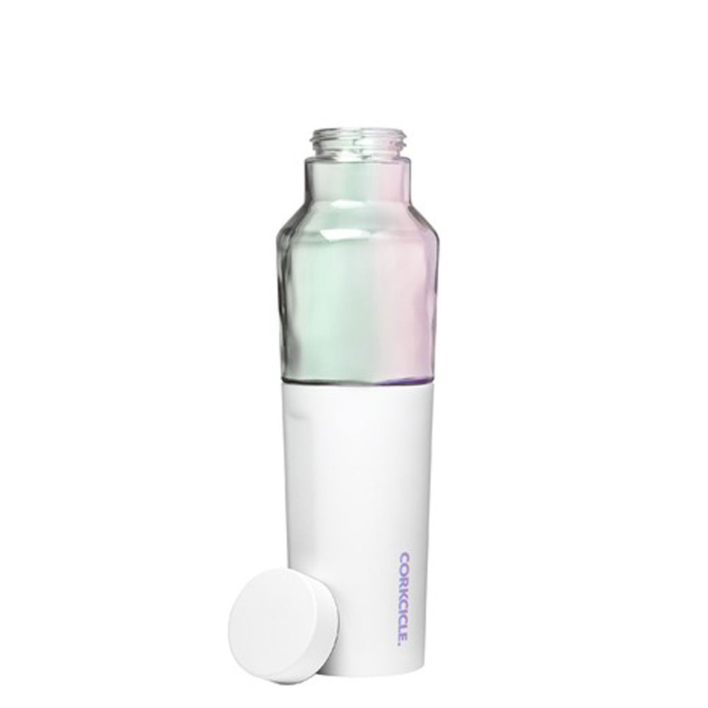 corkcicle hybrid canteen 20 oz prism white