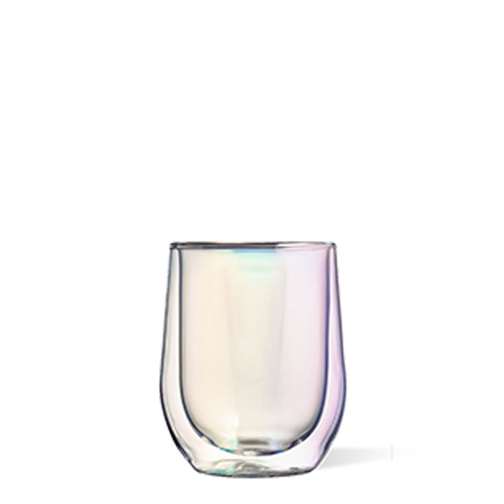 Corkcicle Glass Stemless Set Prism at Twang and Pearl