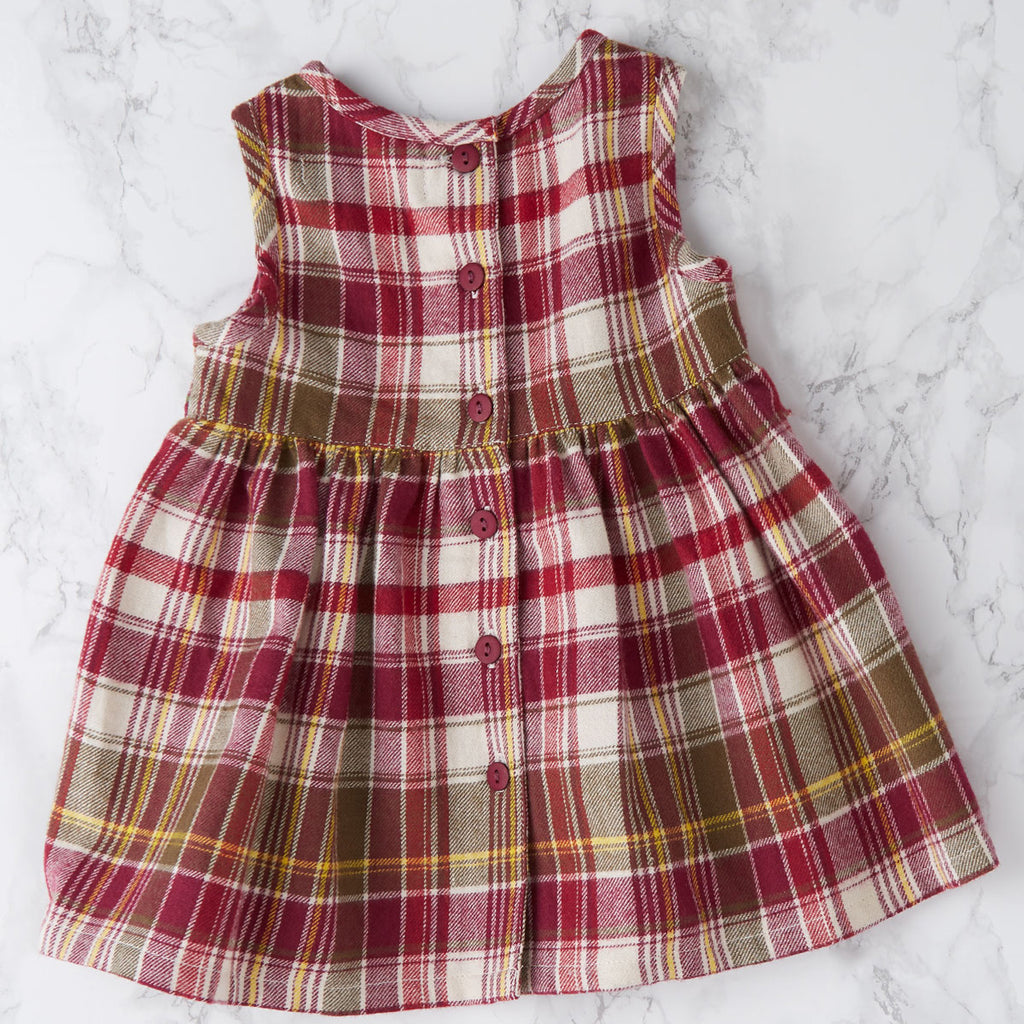 April Cornell Cotton Baby Dress | Portland Plaid