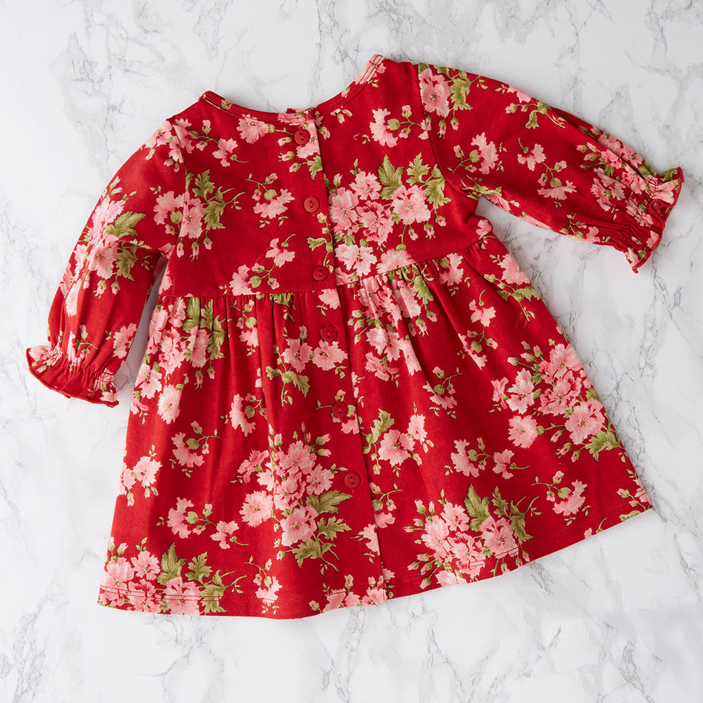 April Cornell Cotton Baby Dress | Carnation Jersey Red