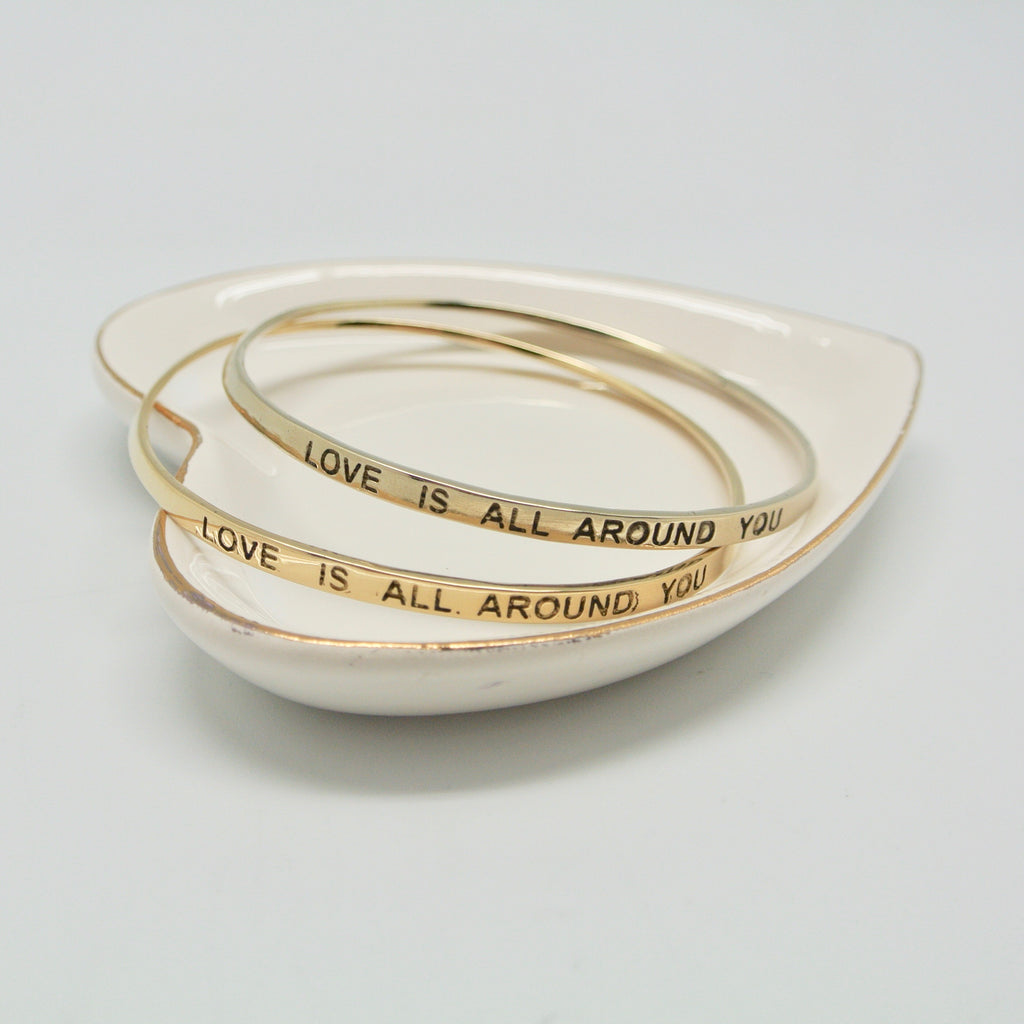 twang and pearl love is all around you bangle