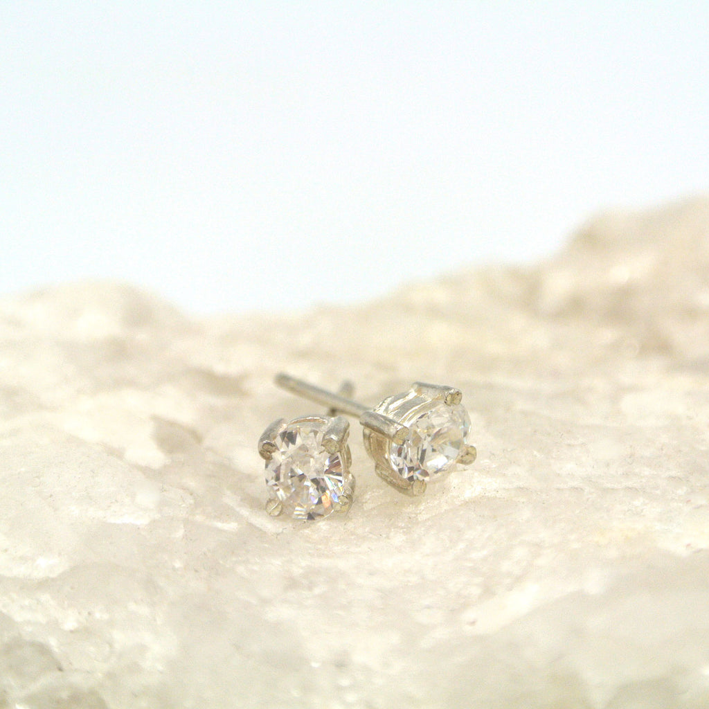 twang and pearl gem stone studs small cubic zirconia