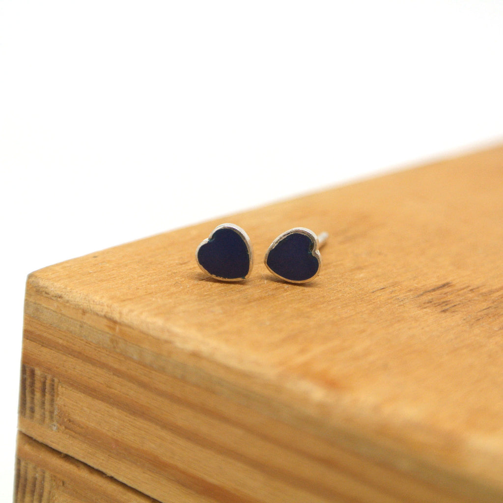 twang and pearl sterling silver studs hearts lapis