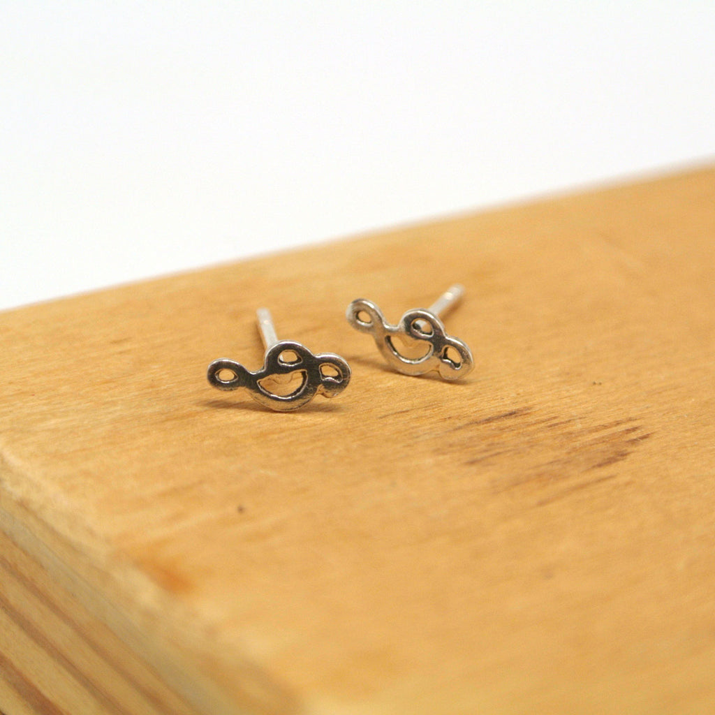 twang and pearl sterling studs hobbies trebel clef