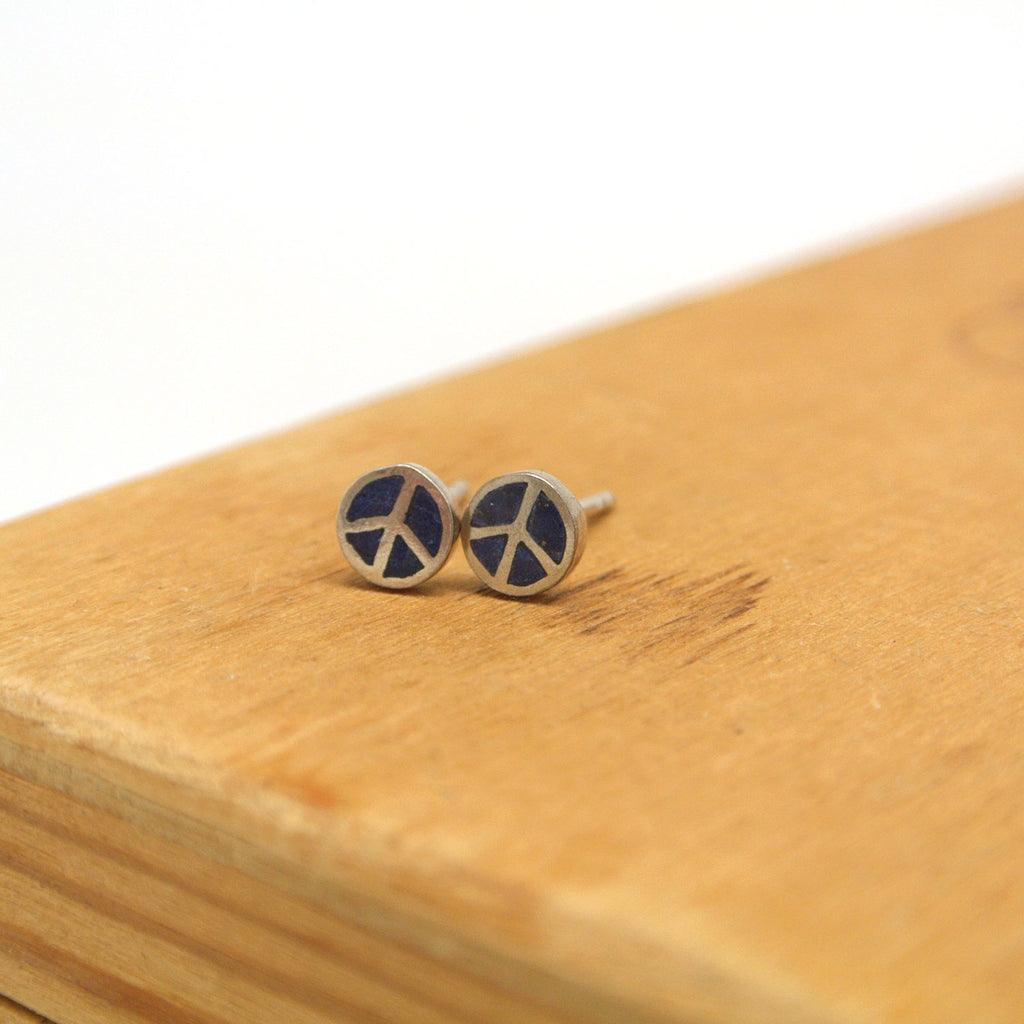twang and pearl sterling silver studs peace lapis