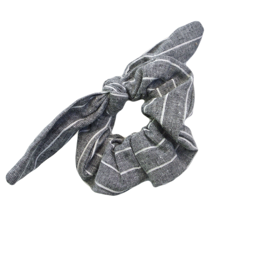 end of her rope scrunchies grey stripe at twang and pearl