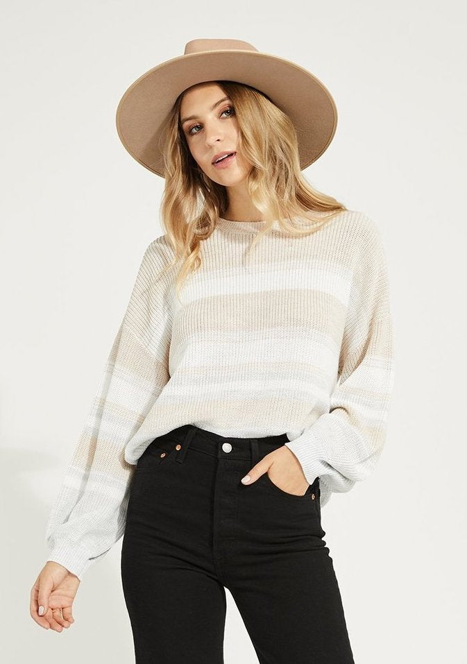 Gentle Fawn Fonda Sweater Oatmeal Stripe