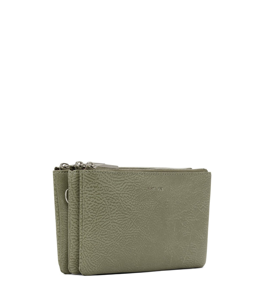 matt & nat triplet crossbody bag matcha at twang and pearl