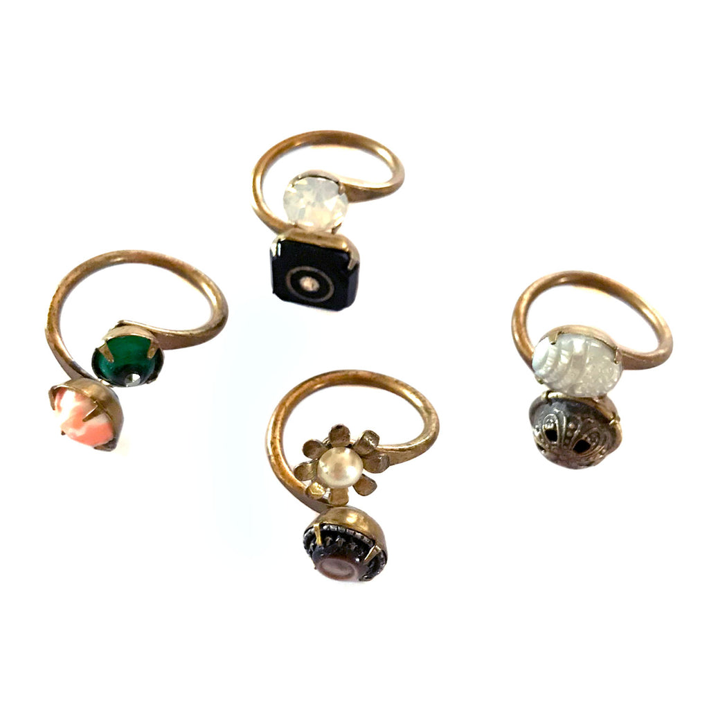 Grandmother's Buttons - One Of A Kind Rings - Various Styles