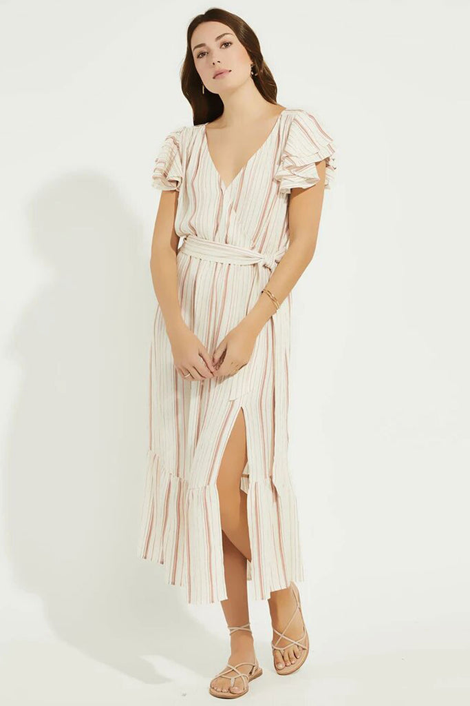 Gentle Fawn Ophelia Dress | Natural Multistripe, Designed in Canada