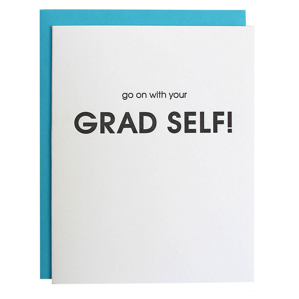 Chez Gagne Congratulations Card Grad Self at Twang and Pearl