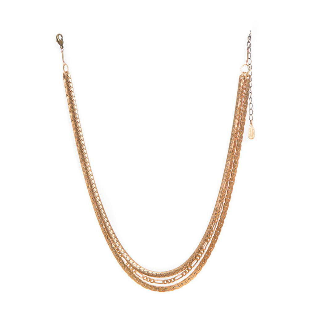 hailey gerrits mixed chain necklace large twang and pearl
