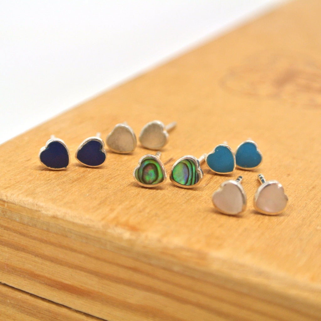 Twang and Pearl - Sterling Studs - Hearts