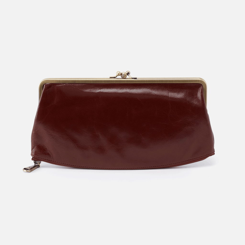Hobo Mavis Clutch in Chocolate Velvet Hide at Twang and Pearl