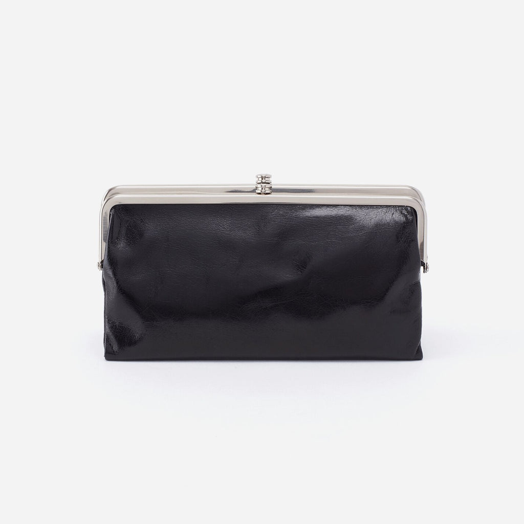 Hobo Bags Lauren Wallet Black - Vintage Leather Clutch