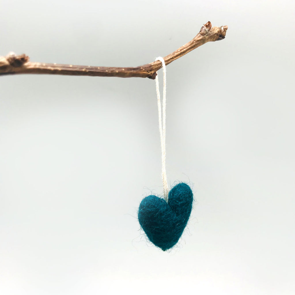 Decor - Felted Heart Ornaments