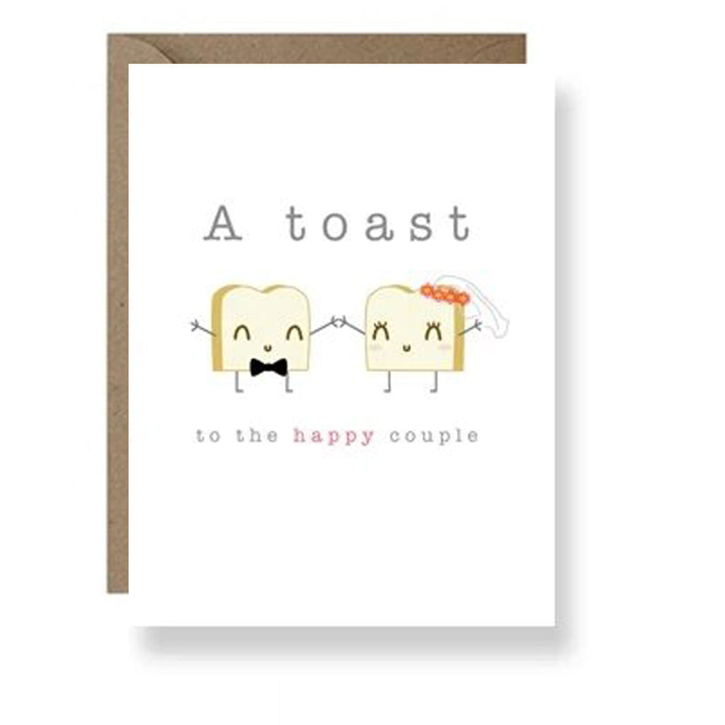 IM Paper Wedding Card Toast at Twang and Pearl