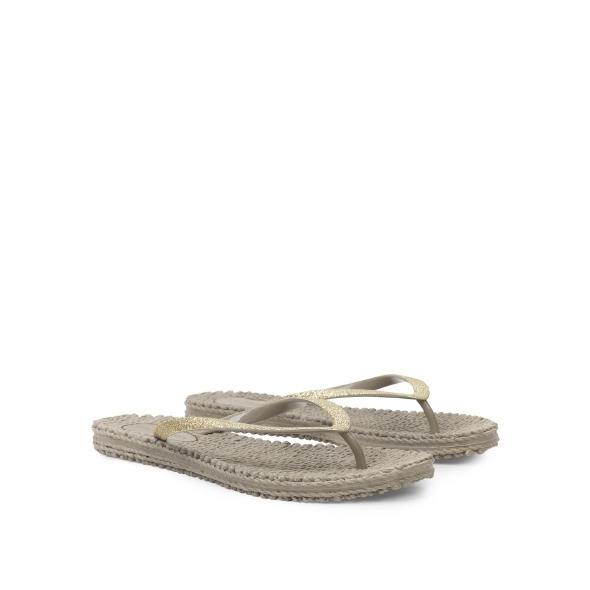 Ilse Jacobsen Sparkle Flip Flops in Gold at Twang and Pearl