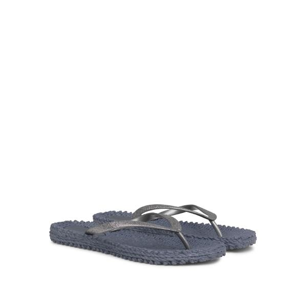 Ilse Jacobsen Sparkle Flip Flops in Silvery Grey at Twang and Pearl