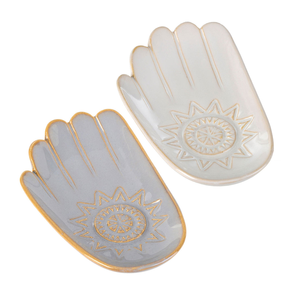 ceramic hamsa hand catch all dish large at twang and pearl
