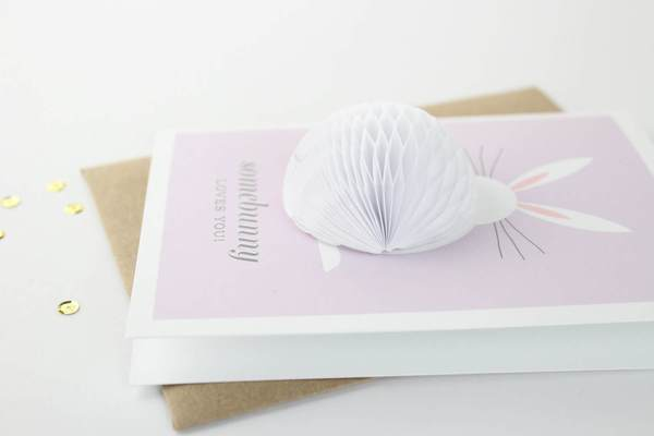 Inklings Pop up Card Bunny at Twang and Pearl