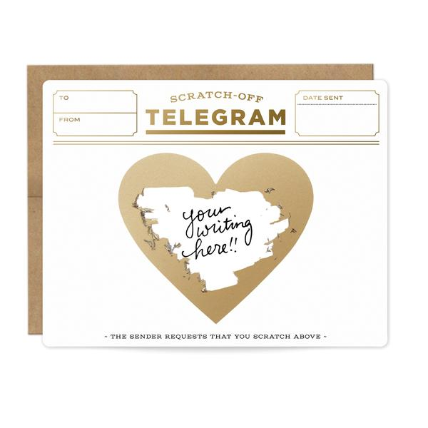 Inklings Friendship Scratch Card Gold Telegram at Twang and Pearl