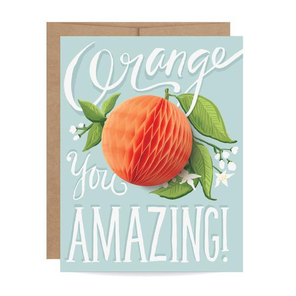 Inklings Paper Orange You Amazing Card at Twang and Pearl