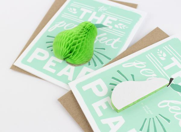 Inklings Pop up Card Pear at Twang and Pearl