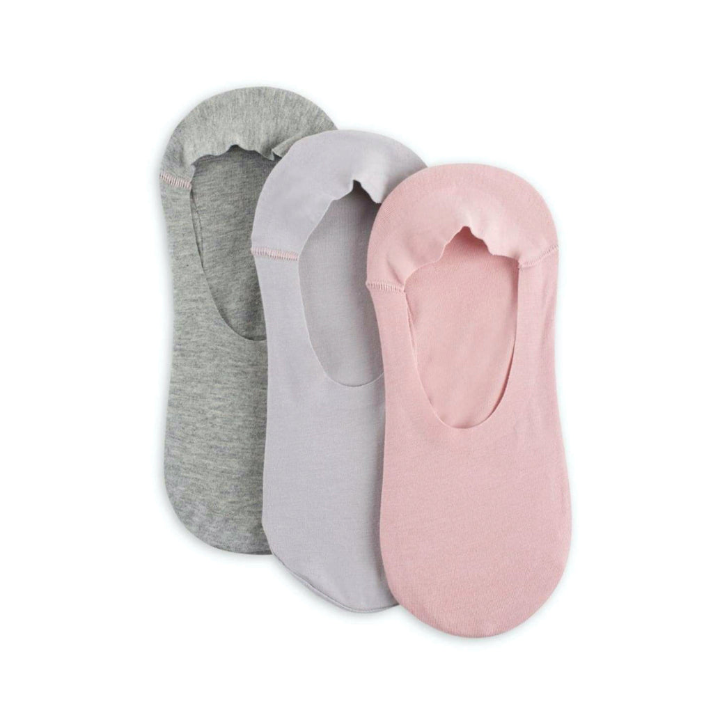 Lemon T-Shirt Sock LIners 3 Pack Grey and Pink