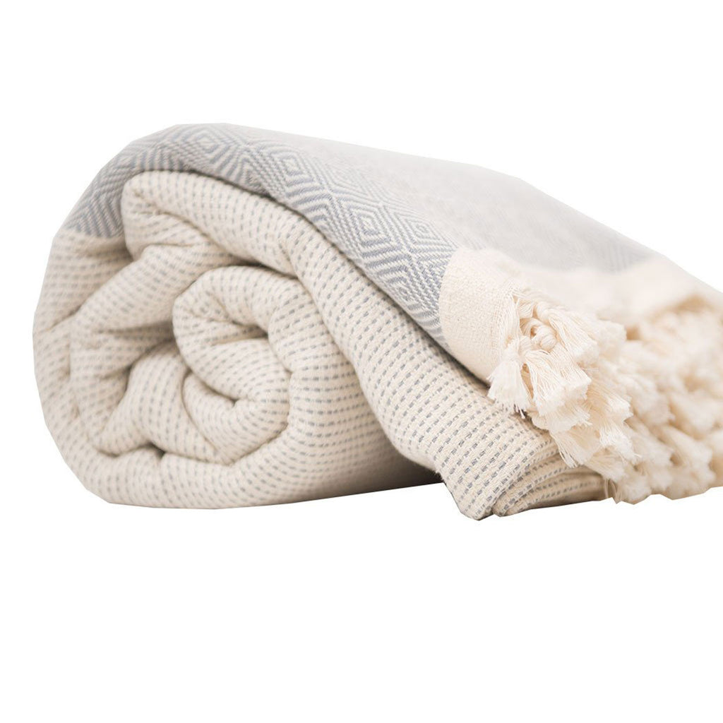 Pokoloko Turkish Blanket Diamond Grey at Twang and Pearl