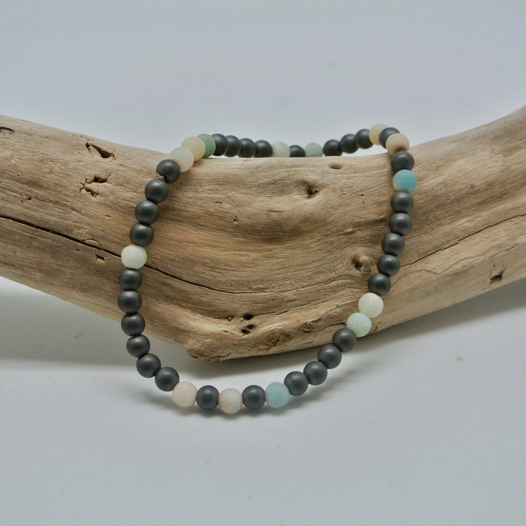 little gem bracelets beachy beach glass and stone at twang and pearl