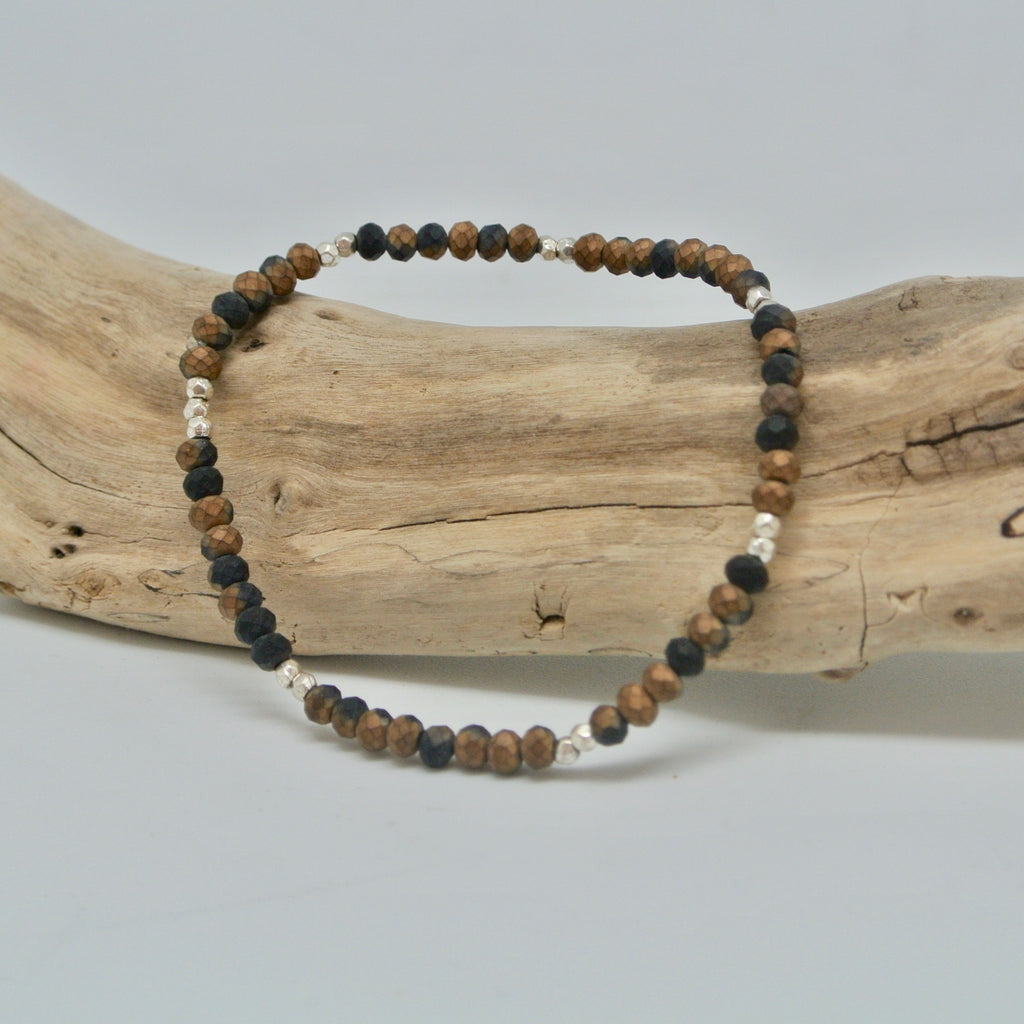 little gem bracelets dark and stormy bronze black and silver at twang and pearl