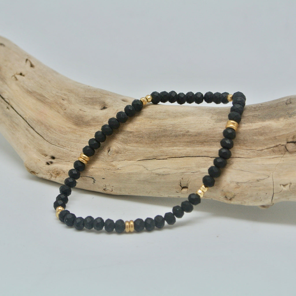 little gem bracelets dark and stormy black and gold at twang and pearl