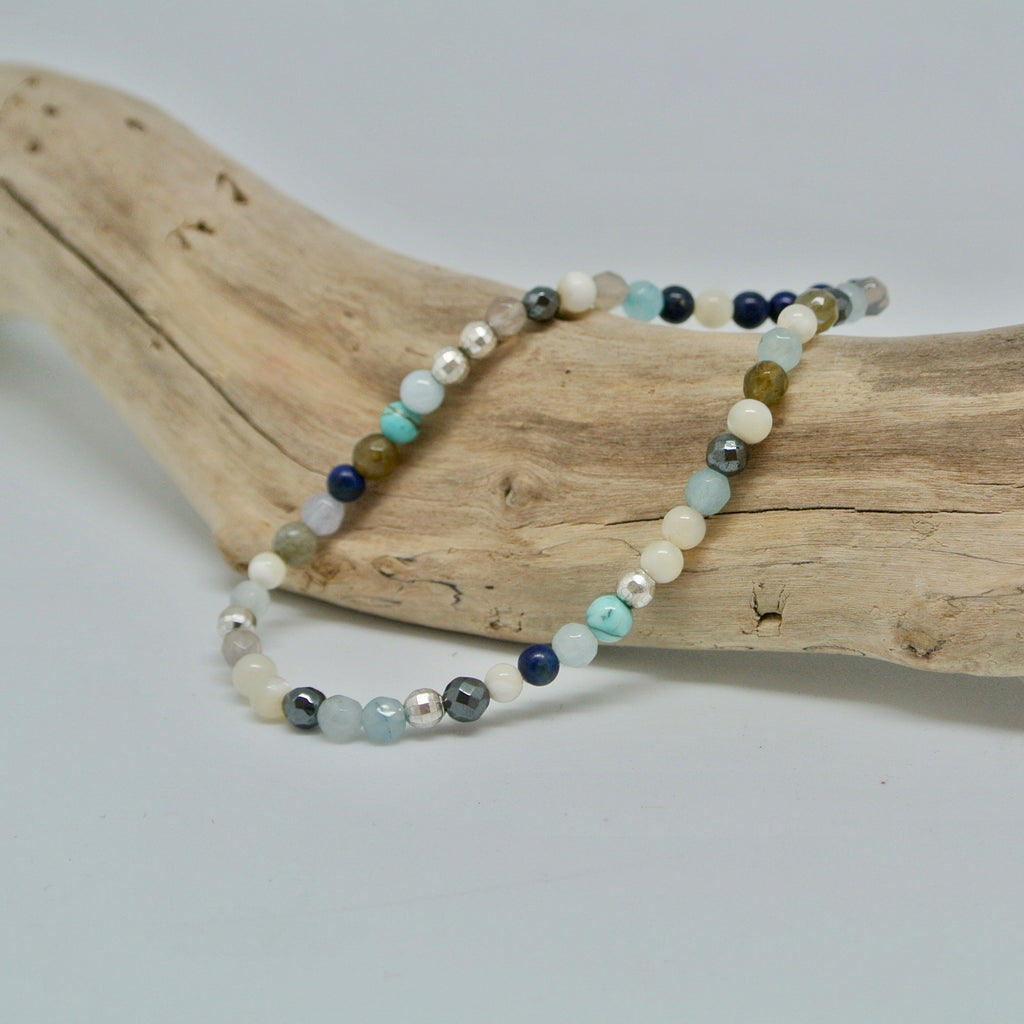 little gem bracelets beachy blue sparkle at twang and pearl