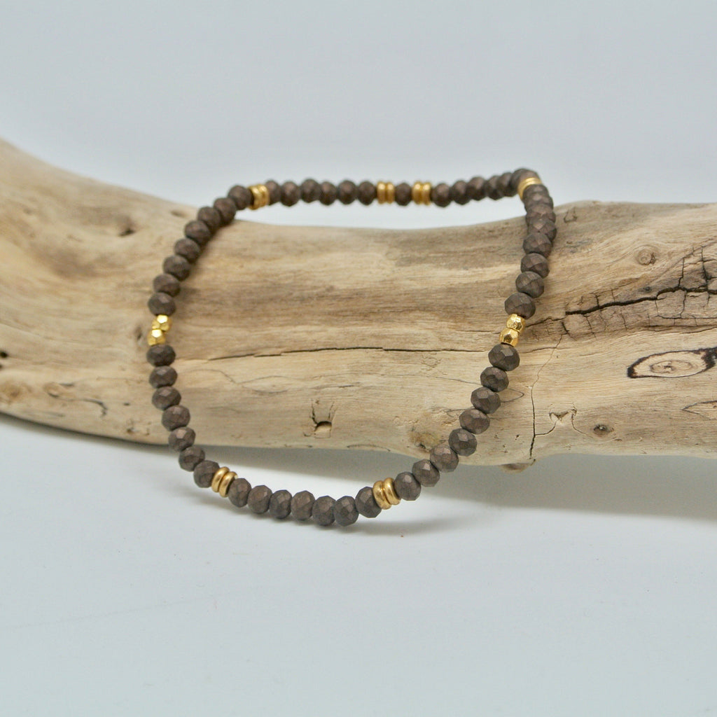 little gem bracelets dark and stormy brown and gold at twang and pearl