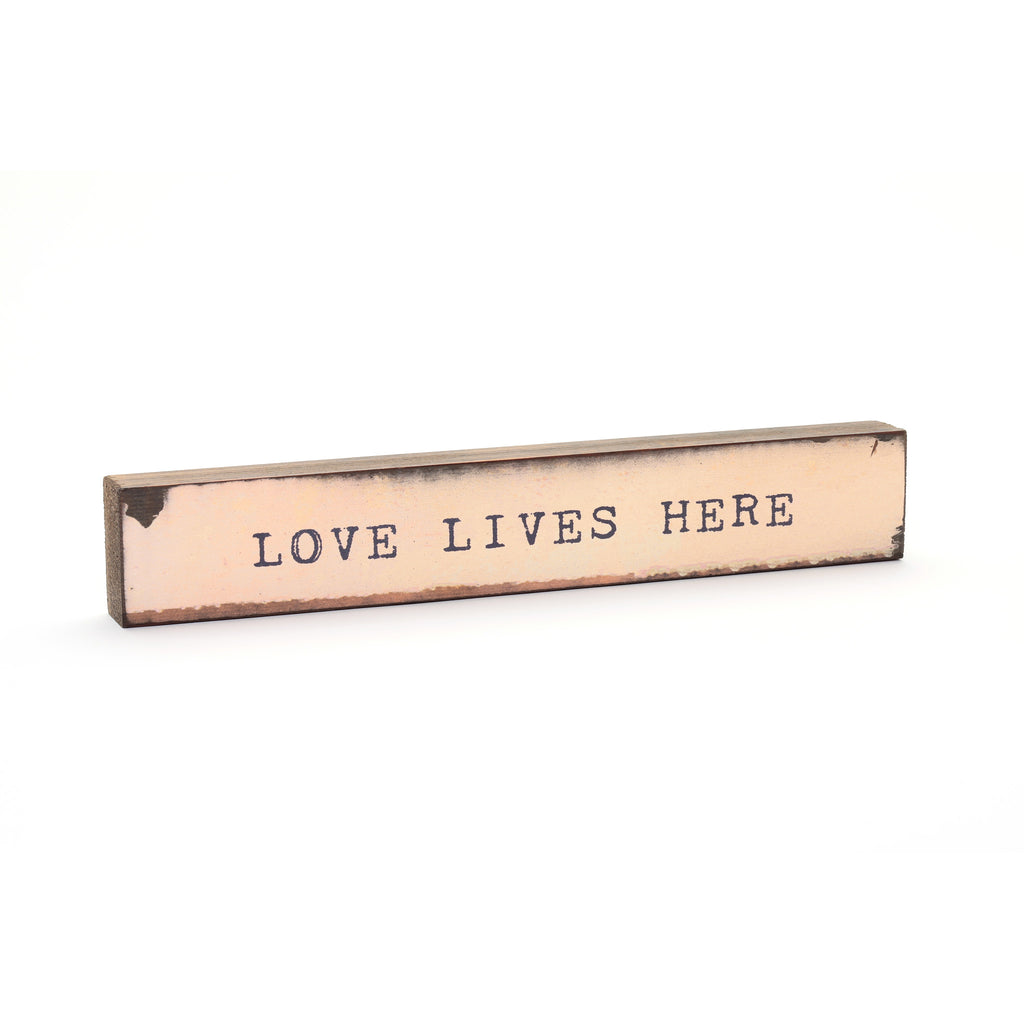 Shelf & Wall Art  - Handmade Wood Block, Inspirational Quote