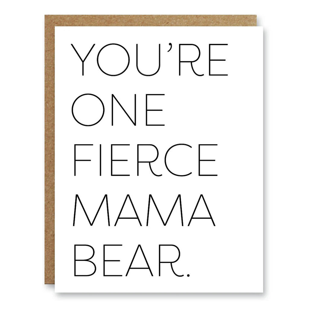 Boo To You Mother's Day Card Mama Bear | Blank Inside