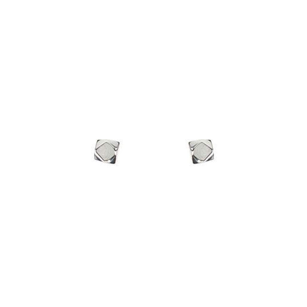 mimi + marge cube rock stud earrings silver at twang and pearl