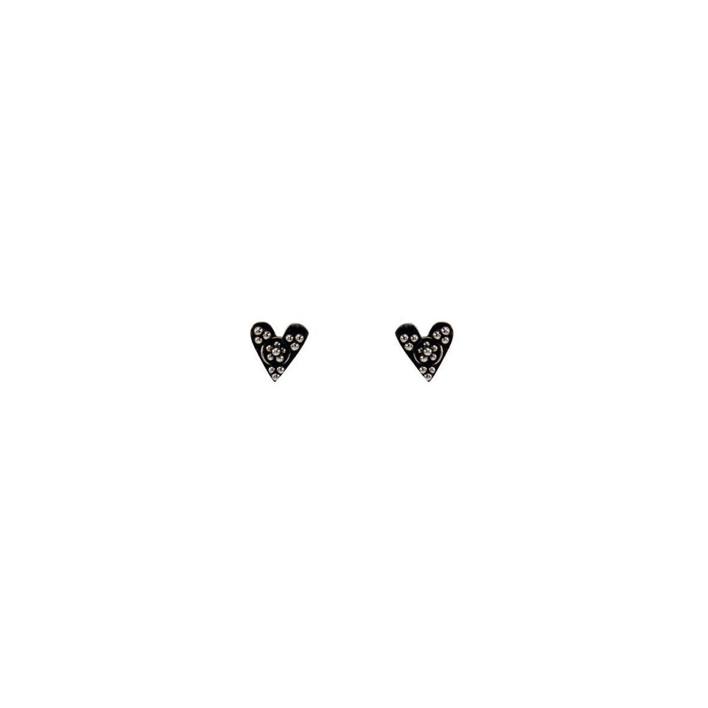 mimi and marge dotted heart silver studs at twang and pearl