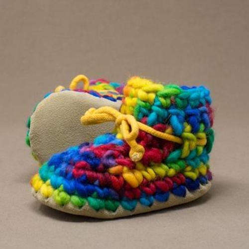padraig baby slippers rainbow at twang and pearl