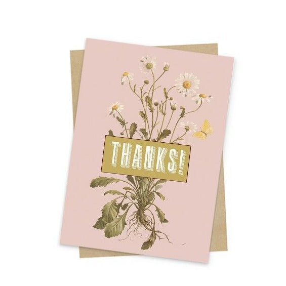 Papaya Thank You Card Mini Daisy at Twang and Pearl