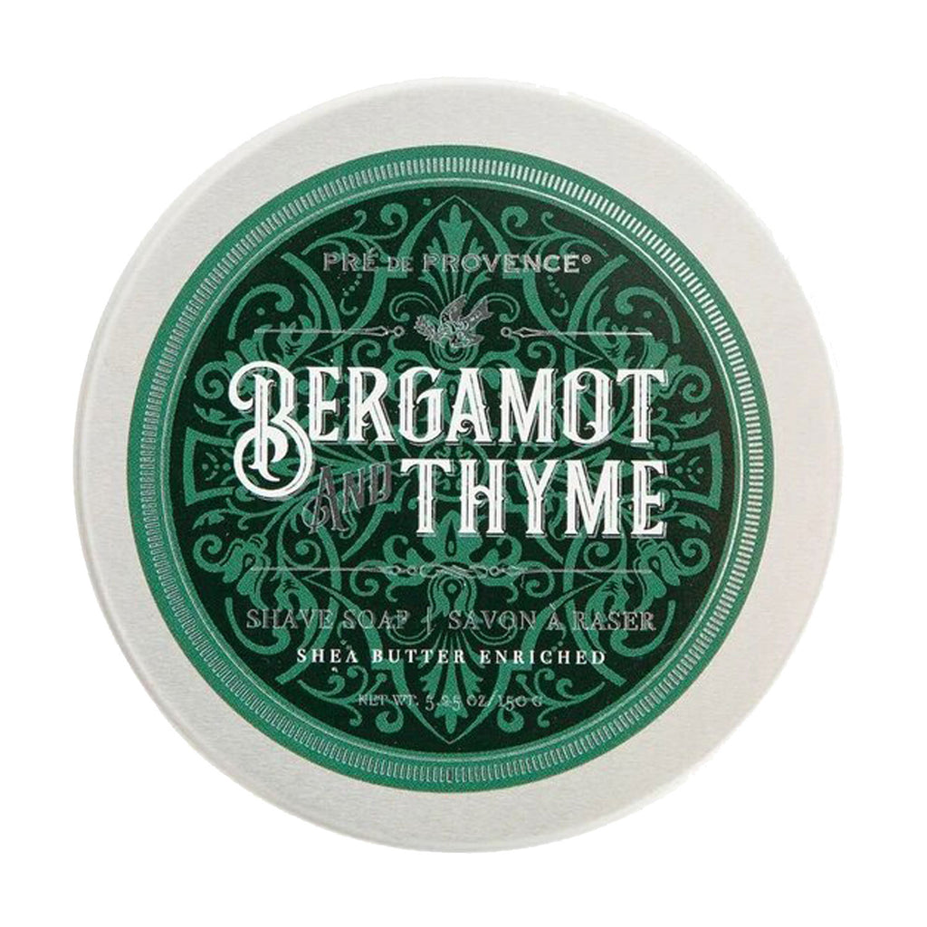 Pre de Provence Shave Soap Tin Bergamont at Twang and Pearl