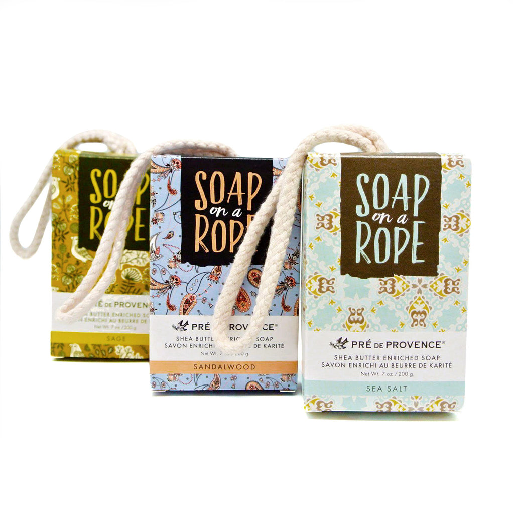 pre de provence soap on a rope various scents at twang and pearl